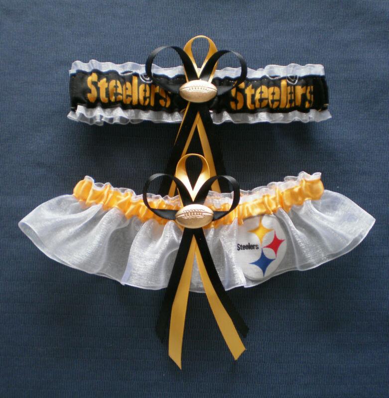 Pittsburgh Steelers Plus Size Wedding Garter Set football charm sport
