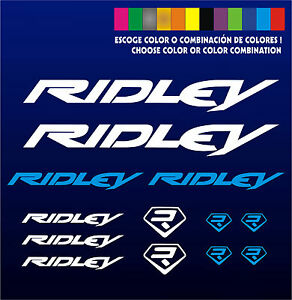 KIT-PEGATINAS-STICKERS-VINILO-LAMINA-PACK-BICICLETA-BIKE-RIDLEY