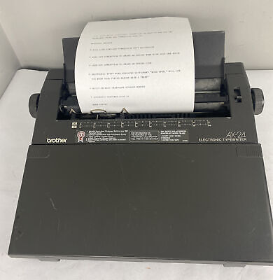 Brother Self Correcting Ax-24 Portable Electric Typewriter Word Processor Works