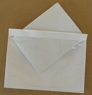 7.5 X 5.5 Clear Adhesive Packing List Shipping Label Envelopes Pouches 100 Pcs