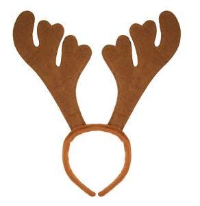 b57e4d40988aa Christmas Reindeer Antlers Rudolph Headband Hat Christmas Fancy Dress Xmas  Party