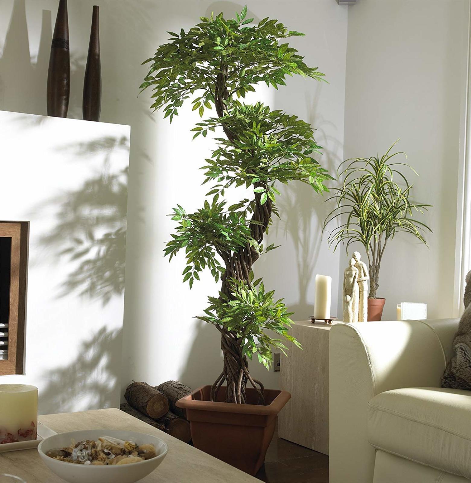Fake House Plant Home Decor Japanese Spiral Artificial Fruticosa Faux Plant Tree Ebay
