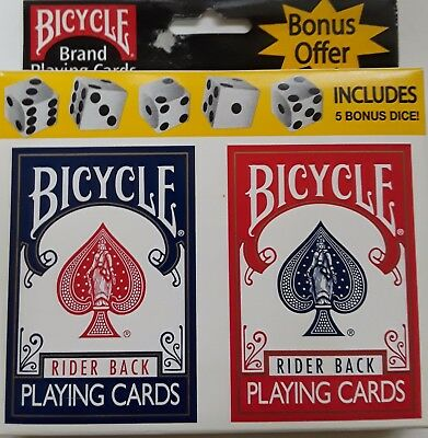 Bicycle Rider Back 808 poker rack single deck Playing Cards BLUE made in USA