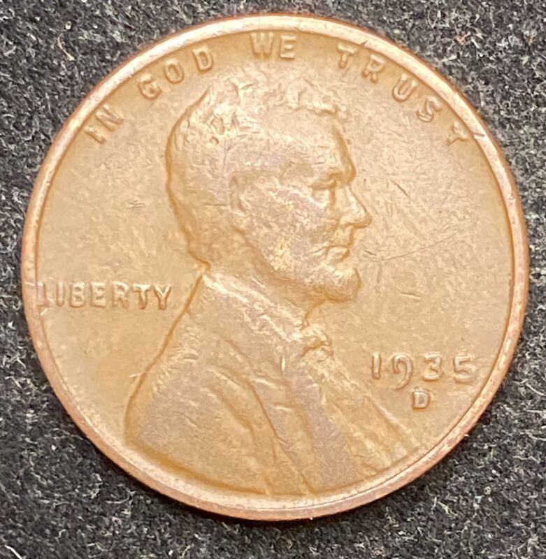1935 D Lincoln Wheat Penny- Free Shipping