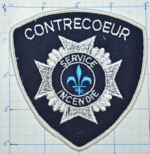 CANADA, CONTRECOEUR FIRE DEPT SERVICE INCENDIE QUEBEC PATCH