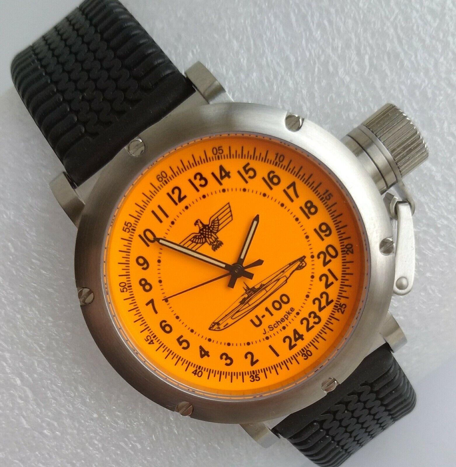 Russian 24-hour mechanical watch Submarine U-100 J. Schepke