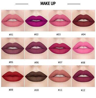 Make-up Matte Lipstick (Matte Lipstick Lippenstift Waterproof Make-up Langlebig Lipgloss Beauty Kosmetik)