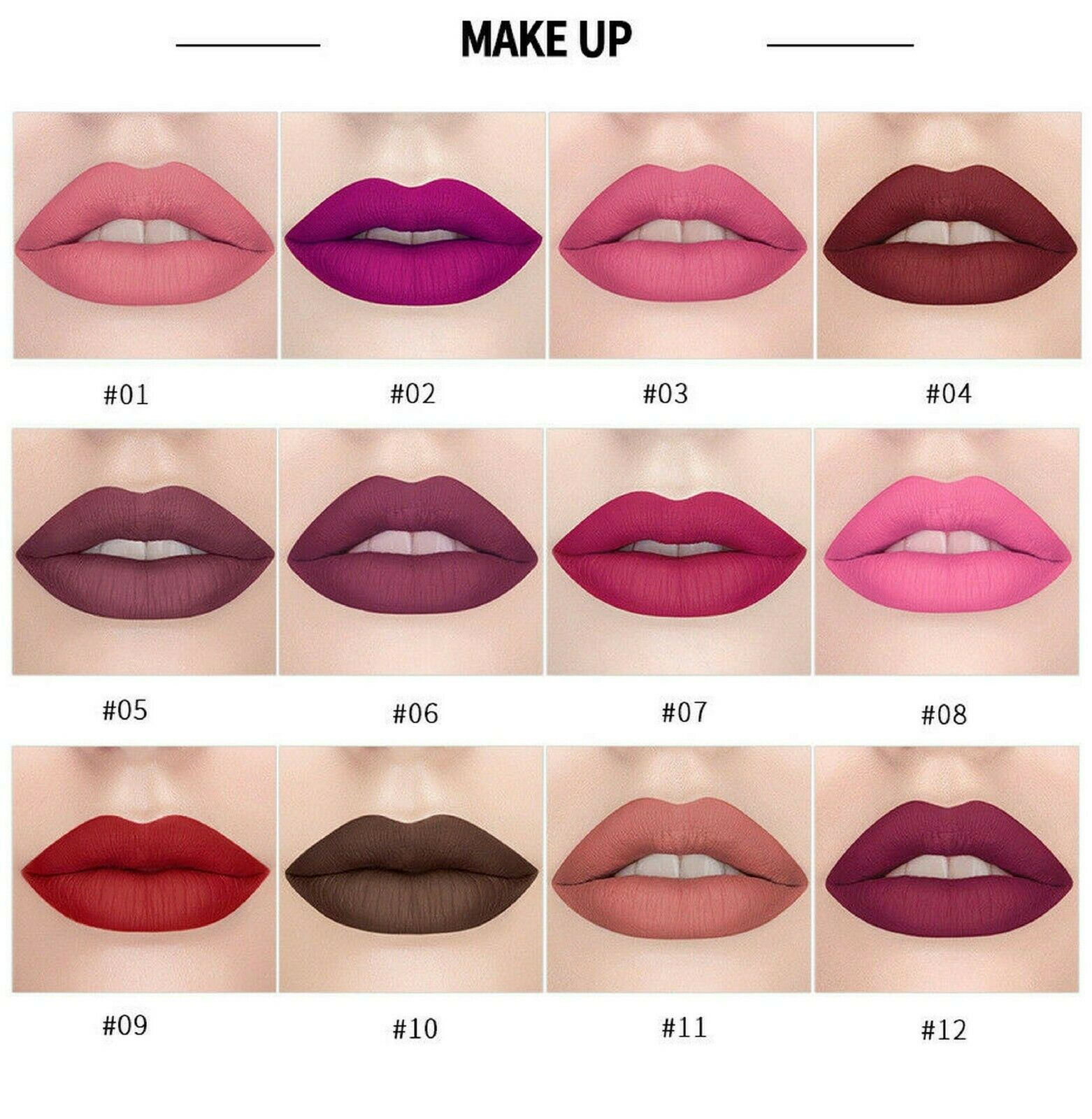 Matte Lipstick Lippenstift Waterproof Make-up Langlebig Lipgloss Beauty Kosmetik