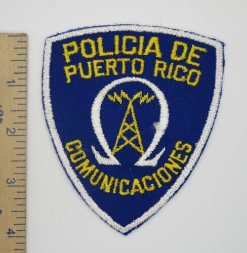 POLICIA DE PUERTO RICO COMUNICACIONES POLICE PATCH Original Older Vintage