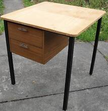 Small Square table / desk with 2 drawers Ivanhoe Banyule Area Preview