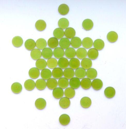 LOT OF 46 VINTAGE GREEN CELLULOID POKER BINGO CHIPS