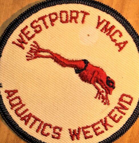GEMSCO NOS Vintage Patch  - YMCA AQUATICS WEEKEND WESTPORT CT - 45+ year old