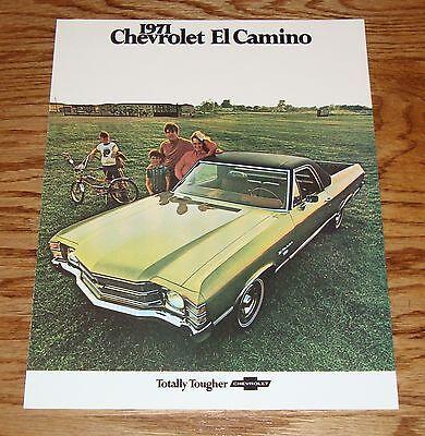 1971 Chevrolet El Camino Sales Brochure 71 Chevy