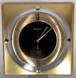 Vintage Waltham Wall Clock - Mid Century Modern Gold - Working *****************