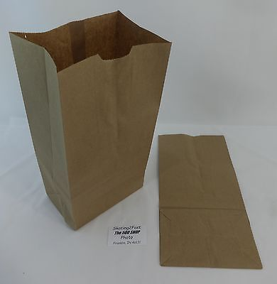 Qty 500 #12 Paper Brown Kraft Natural Grocery Shopping Merchandise Retail Bags
