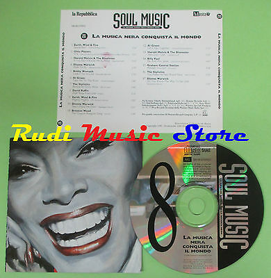 CD SOUL MUSIC 8 MUSICA NERA CONQUISTA MONDO compilation PROMO 96 (C17*)*no mc lp