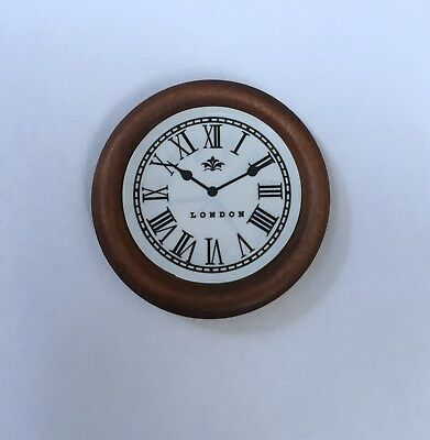 Dollhouse Miniature London wooden wall clock with numeral numbers for sale  Mount Pocono