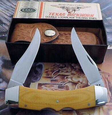 Case 1980 Texas Lockhorn Knife 1980 Lightning SS Micarta Mint In Box AAA+ NR
