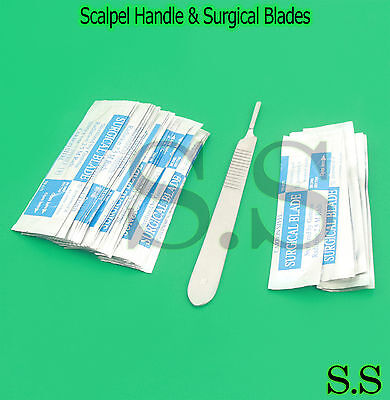 300 Scalpel Blades 15 Surgical Dental Ent Instruments - With Free Handle 3