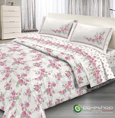Garten Bettbezug (parure Bettbezug Doppel Hochzeits- Rosengarten Rosen pink)