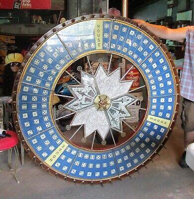 """Antique HC Evans -  Cowpur Dice Gaming Wheel 5' (60"""") Round"""