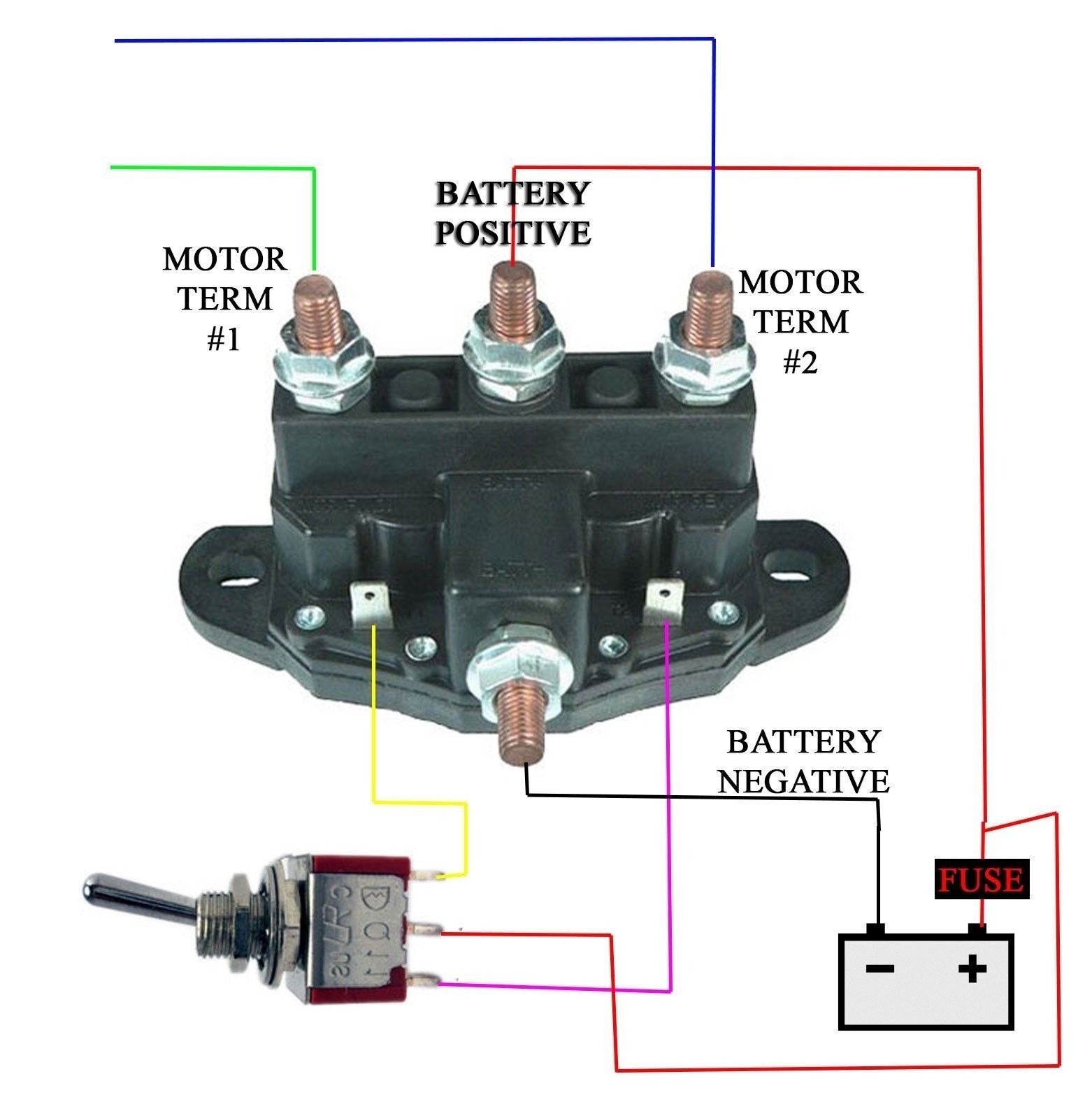 Winch Motor Continuous Duty Reversing Solenoid Dc