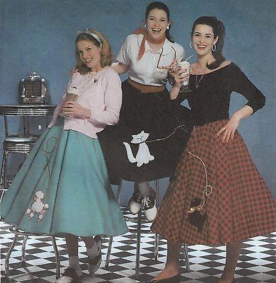 Misses POODLE SKIRT   Retro MCM Sock Hop COSTUME   6 - 12   UNCUT Sewing Pattern](Miss Sock Hop Costume)