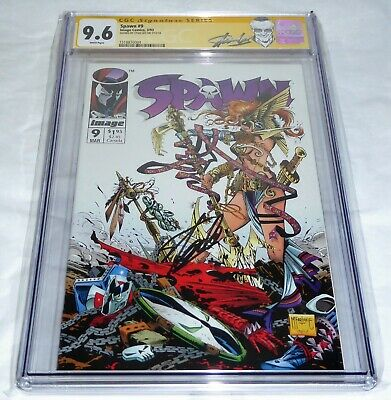 Spawn #9 1st Angelica Now in Marvel CGC SS STAN LEE Signature Edition Autograph