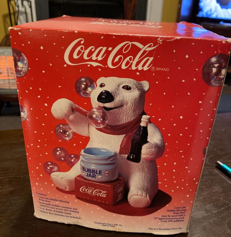 Coca Cola Bubble Blowing Polar Bear Animated Ornament
