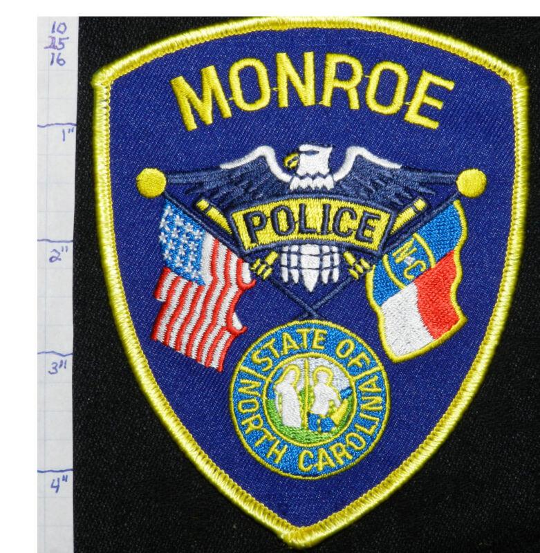 NORTH CAROLINA, MONROE POLICE DEPT PATCH