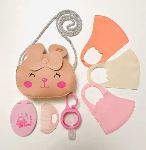 Kids Washable Face Mask Set With Handbag And Other Accessories