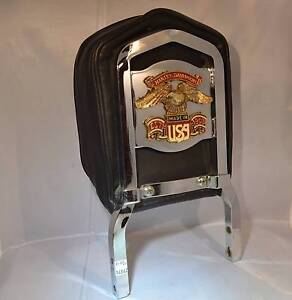 Harley Davidson Motorcycle Chrome Back Rest with Eagle Softail Findon Charles Sturt Area Preview