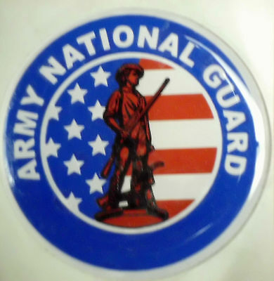 "ARMY NATIONAL GUARD  FULL COLOR 2"" INCH EPOXY DOME CAR DECAL STICKER EMBLEM"