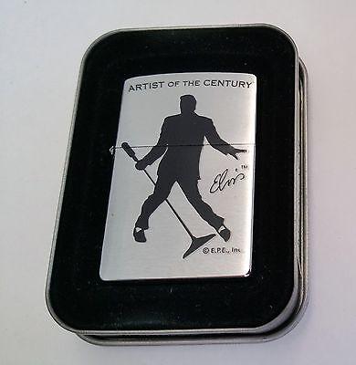 Zippo Lighter Licensed Elvis Presley Artist of the Century New Tin Sleeve 2001