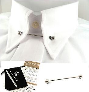 Collar pin bar ebay for Tie bar collar shirt