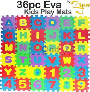 36pc Kids Play Mats Eva Foam Large Floor Children Puzzle Soft ABC Interlocking