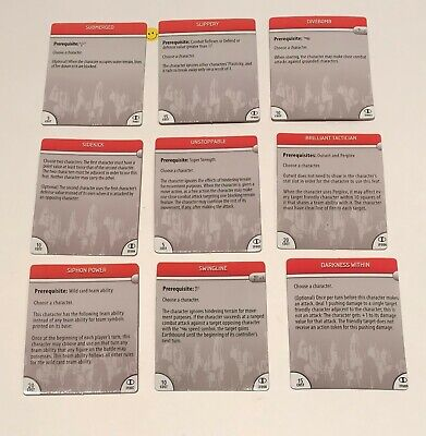 Heroclix Icons 9 x Feat Cards USED BF (Card Dc Heroclix Icons)