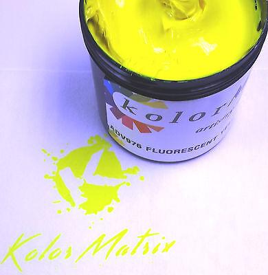 Super Opaque Fluorescent Yellow Premium Plastisol Screenprint Ink QUART