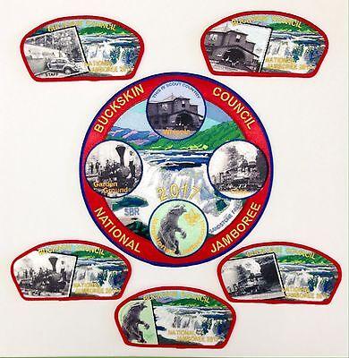 Boy Scout 2017 National Jamboree Buckskin Council Patch Set