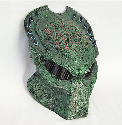 52a7877fce1 NEW Green Paintball Full Wire Mesh Protection AVP Predator Mask Halloween  M0145