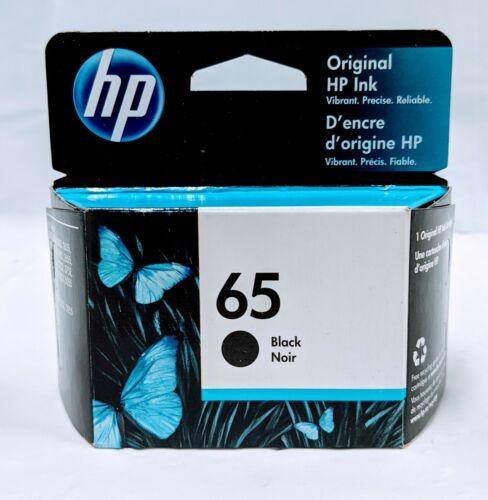 Genuine OEM HP 65 Single Original Black HP Ink Cartridge Expires 2022 - New!