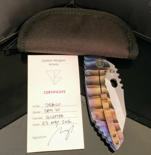 Dalibor Bergam Draco custom folder knife