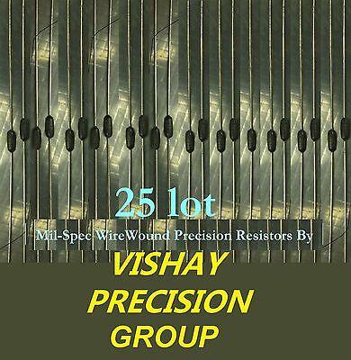 Huge Lot 25 Vishay 75 Ohm 1w 1 Wirewound Precision Mil-spec Resistors. And...
