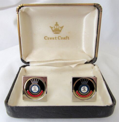 Vintage Salvation Army Blood and Fire Cufflinks by Crest Craft w/Box WoW L@@K!