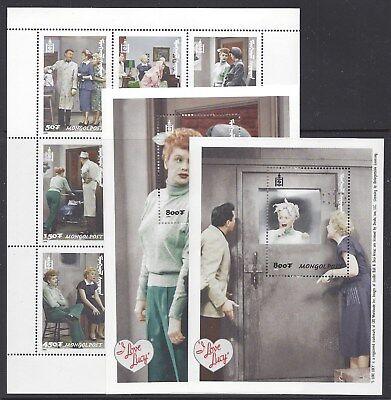 MONGOLIA 2366-68 MNH I LOVE LUCY *SET OF 1 MINI-SHEET & 2 SOUVENIR SHEETS*