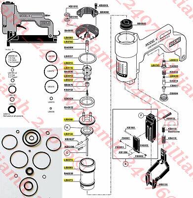 Senco Stapler Nailer K Model O Ring Kit Seal Lb5012