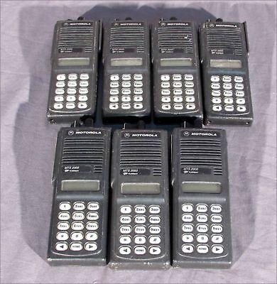 Lot Of 7 Motorola H01uch6pw1bn Handheld Radios