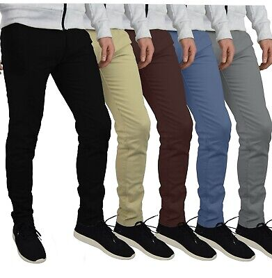 Herren Designer Chino Hose Stretch Stoff Chinohose Slim Fit Casual Trousers Slim Fit Chino