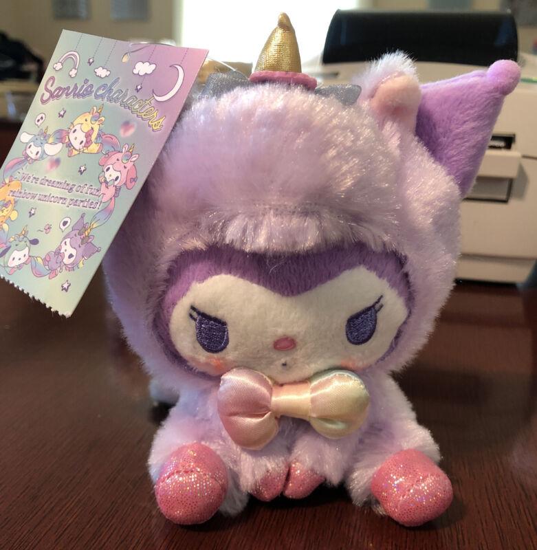 """Sanrio Kuromi unicorn Cosplay Plush Keychain 5.5"""""""