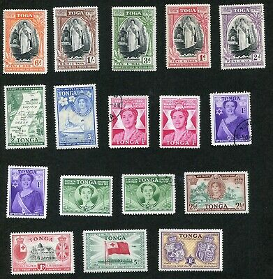 STAMP LOT OF TONGA, MH AND USED